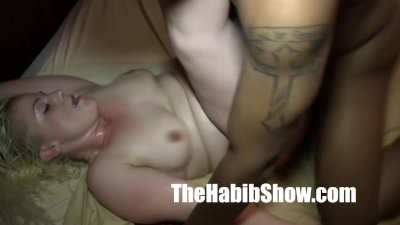 blonde loves her BBC pussy nutted on black cock
