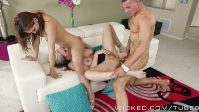 Sexy threesome with milf and y