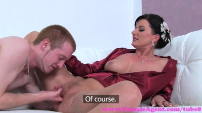 FemaleAgent. Sexy MILF agent teaches stud how to fuck