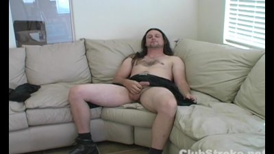 Long Haired Straight Guy Sean Masturbating His Cock