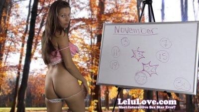 Lelu Love-November 2014 Cum Schedule
