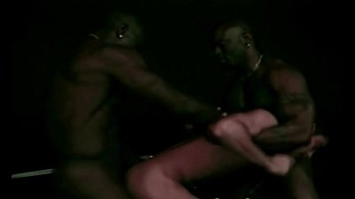 White Gay GangBang And Fucked by Black Cocks
