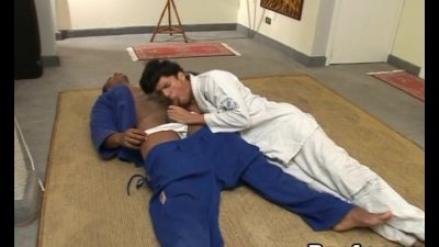 Karate Training Turns into a Pounding Beefy Action