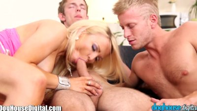 DogHouse BiSexual Couple Gets a Cock