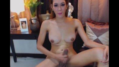 Gorgeous Busty Shemale Masturbating
