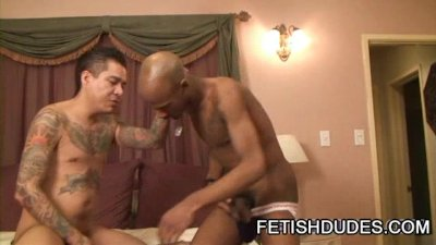 Max Sanchez And Cuba Santos: One Helluva Interracial Jockstrap Scene