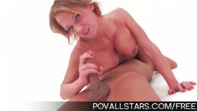 POVAllstars Nikki Sexx gives BJ and swallows jizz