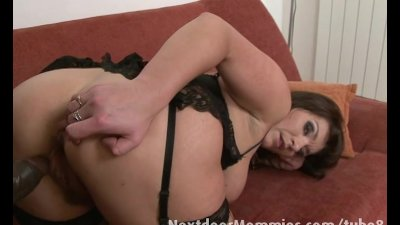 Mom with monster tits fucks a black cock