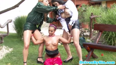 Lesbian eurobabes threesome fisting action