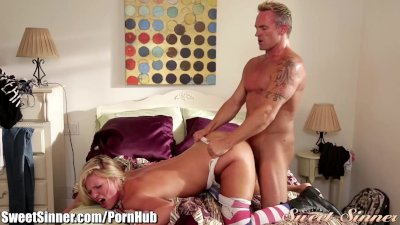 SweetSinner Scarlet Red Fucks Voyeur Stepdad