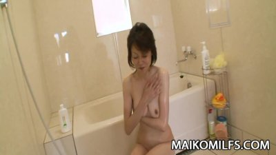 Takako Kumagaya - Mature JAV With Sagging Breasts Fucked By Young Cock