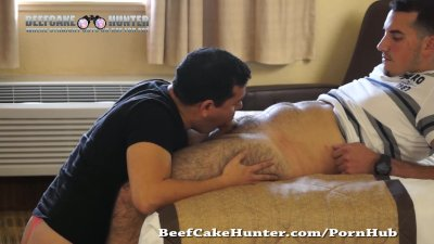 Sucking ex-army hairy legs Mike