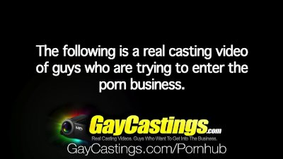 HD GayCastings - Young student Max Bradley is trying out for porn