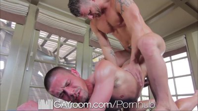 GayRoom Initimate massage ends in guys pounding ass