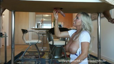 Wifey's Milking Table Massage And Swallow