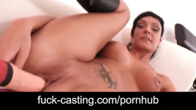 Horny young girls on fuck casting show off everything they have