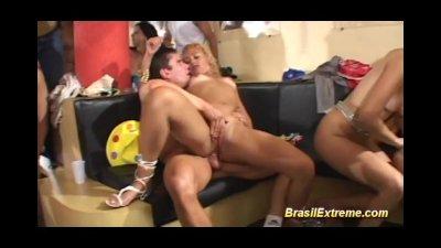 Brazilian girls pumped in sex orgy