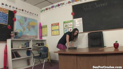 Slutty Student Fucking 2 Teachers!!
