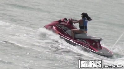 Mofos - Skinny beach girl gets pounded