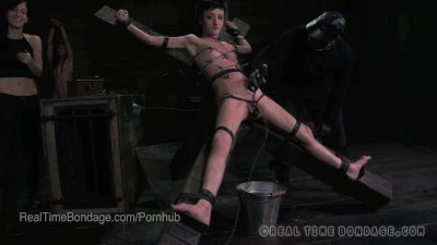 Petite Punk BDSM Slut Lit Up Like a Xmas Tree with Electric Torture