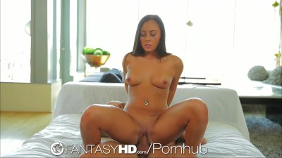 FantasyHD Teen's huge tits are sweeter with honey
