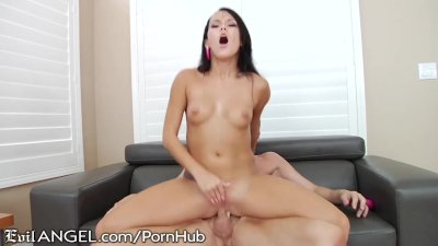 Megan Rain Rides dirty Daddy with Asshole