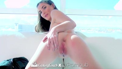 HD CastingCouch-X -Molly Jane with natural tits auditioning for sex